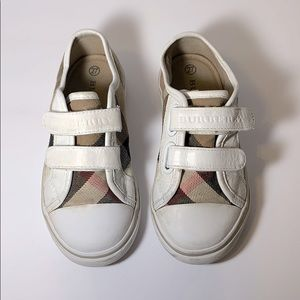 Burberry White Check Sneakers Size 27